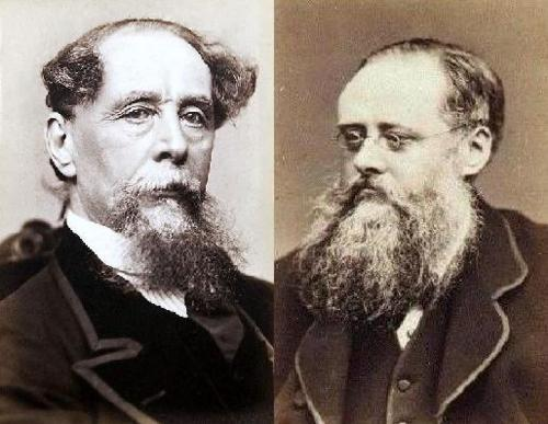 Portraits of Charles Dickens and Wilkie Collins