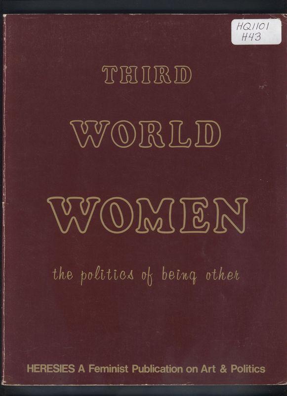 "Cover of 1979's<em> Heresies</em> ""Third World Women"" issue"