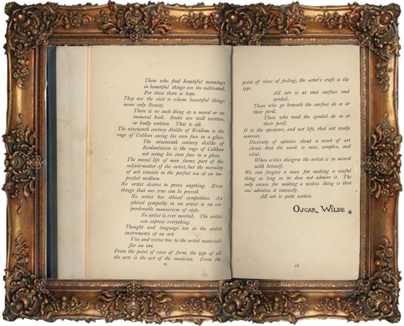 The Picture of Dorian Gray 1891 Preface