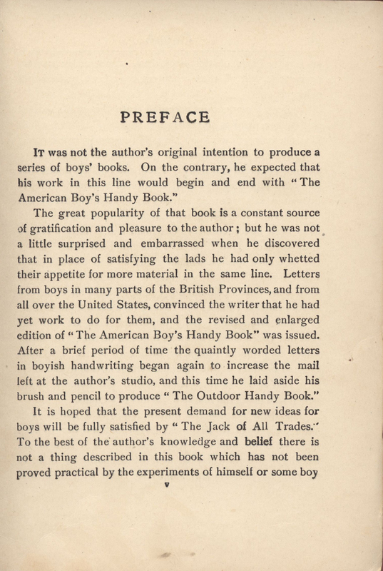 "D.C. Beard's Jack of All Trades ""Preface"""