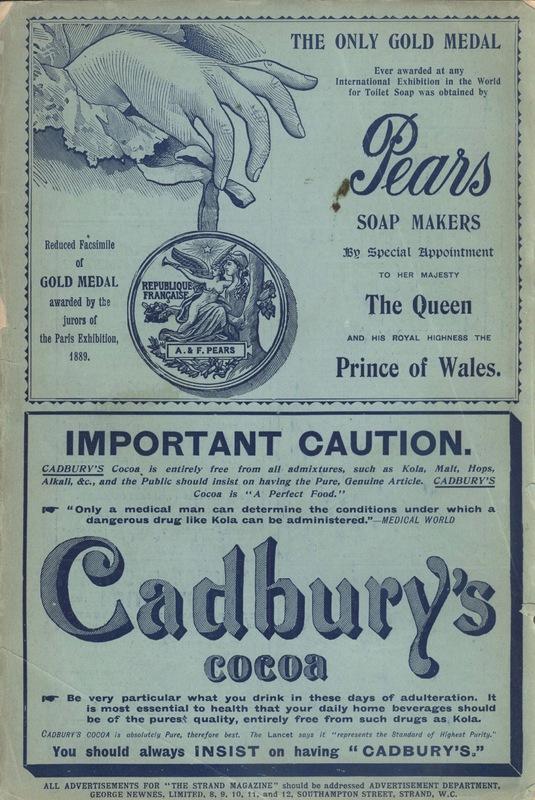 <em>The Strand Magazine</em>, issue 87, back cover