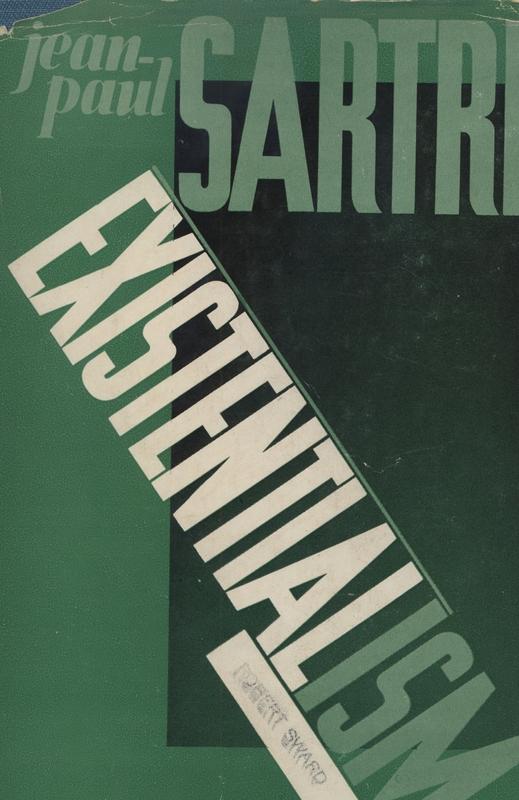 Cover of Jean-Paul Sartre's<em>Existentialism,</em>1947