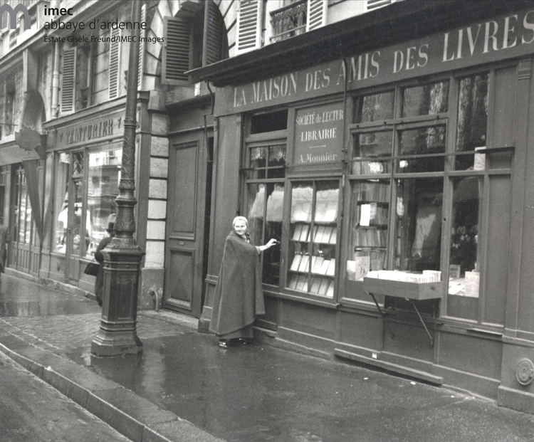 Adrienne Monnier before her bookshop