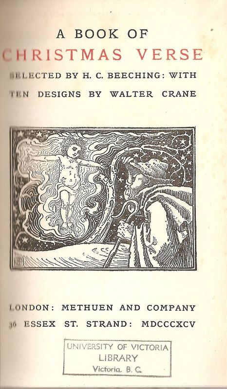 Title page of <em>A Book of Christmas Verse</em>