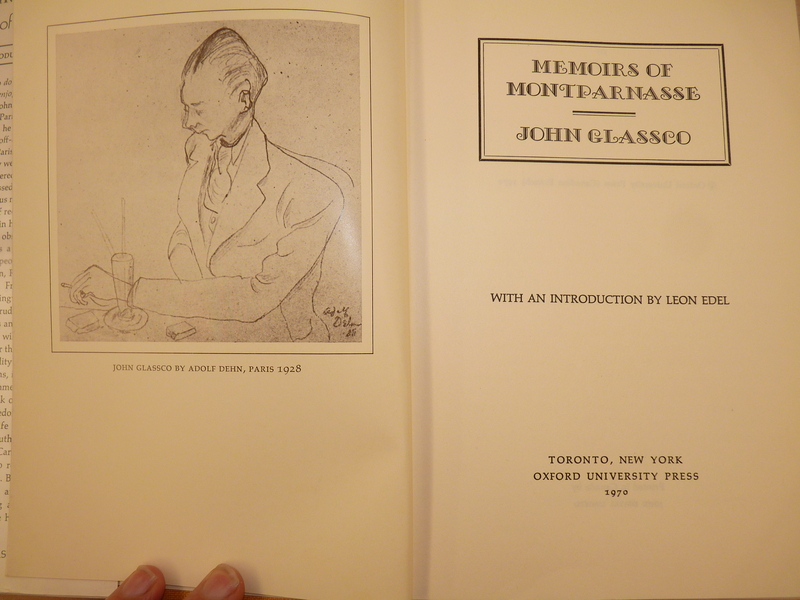 Glassco portrait, <em>Memoirs of Montparnasse</em>, illustration by Adolf Dehn, Paris, 1928.