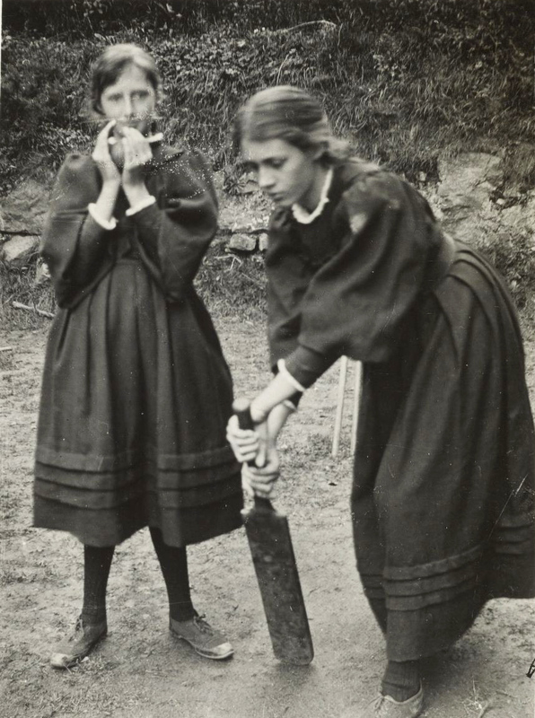 Portrait of Vanessa Bell and Virginia Woolf as children