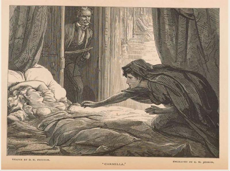 "Illustration from J. Sheridan Le Fanu's ""Carmilla"""