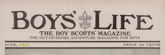 Boys' Life Price 1921