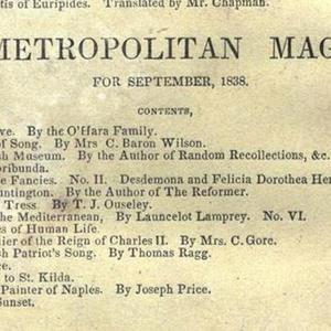 Bentley's Miscellany (back cover, detail)