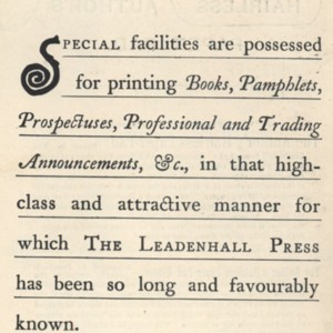 Advertisement for The Leadenhall Press