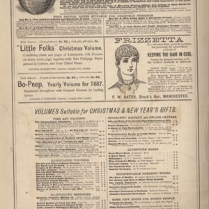 11th page of advertisements in Woman's World Dec 1887