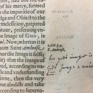 Marginalia from Sir Walter Ralegh's History of the World, 1614
