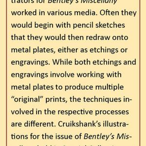 Bentley's Miscellany (interpretive material about etching and engraving contributed by one of the exhibitions authors)