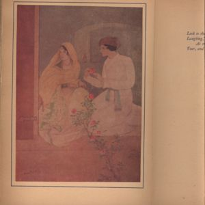 Illustration Made by Abanindo Nath Tagore for Fitzgerald's Rubaiyat Published by Leopold B.  Hill (1920)