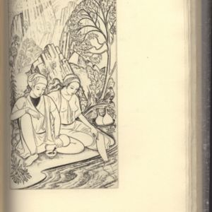 Illustration made by John Buckland Wright for Fitzgerald's <em>Rubaiyat</em> Published by Golden Cockerel Press (1938)