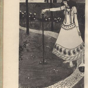 Illustration made by Gilbert James for Fitzgerald's<em> Rubaiyat</em> Published by Routledge (1912)