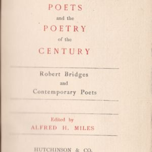 Title Page to <em>The Poets and the Poetry of the Century</em>
