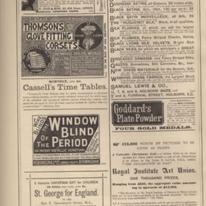 5th page of advertisements in Woman's World Dec 1887