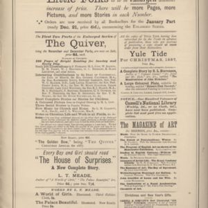 10th page of advertisements in Woman's World Dec 1887