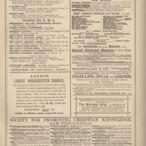 6th page of advertisements in Woman's World Dec 1887