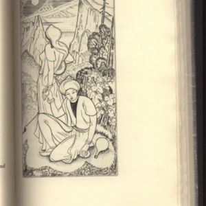 Illustration made  by John Buckland Wright for Fitzgerald\'s Rubaiyat Published by Golden Cockerel Press2.jpg