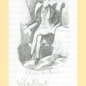 Bentley's Miscellany (portrait of Charles Dickens drawn by George Cruikshank;  image courtesy of  Charles Tomalin, Charles Dickens: A Life)