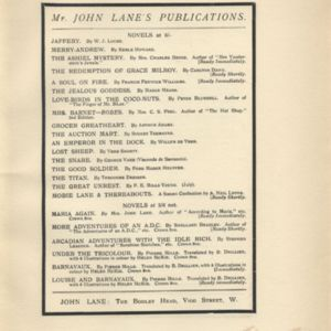 Additional publications from John Lane