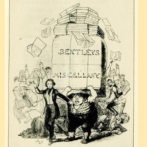 Bentley's Miscellany (Browne's caricature of Dickens. Image courtesy of B.W. Matz, Dickens in Cartoon and Caricature)