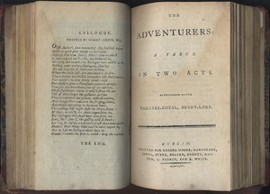 Title Page of <em>The Adventurers</em> by Edward Morris