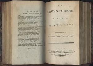 Title Page of<em>The Adventurers</em> by Edward Morris