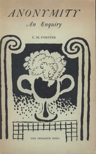 Cover for Anonymity published at the Hogarth Press