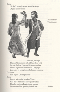 Cropped right page of dance in <em>Pericles, Prince of Tyre.</em>