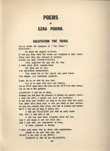 BLAST 1 Ezra Pound Poems