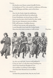 Cropped left page of dance in <em>Pericles, Prince of Tyre.</em>
