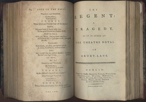 Title Page of <em>The Regent </em>by Bertie Greatheed