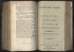 Title Page of <em>Peeping Tom of Coventry </em>by James O'Keefe