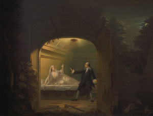 Painting of Tomb Scene in Garrick's Version of <em>Romeo and Juliet</em>