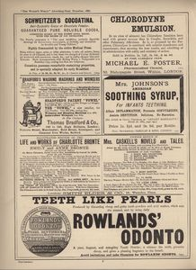7th page of advertisements in Woman's World Dec 1887