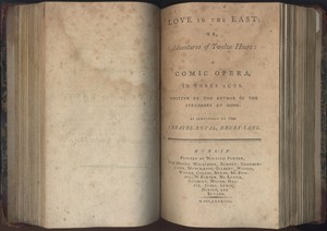 Title Page of <em>Love in the East </em>by James Cobb