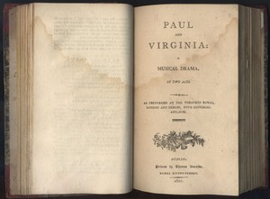 Title page of <em>Paul and Virginia</em> by James Cobb