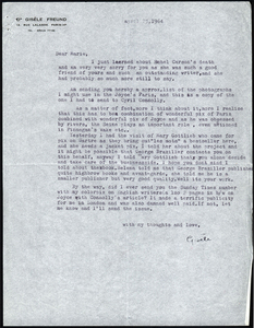 Letter from Freund to Marie Rodell, April 23, 1964